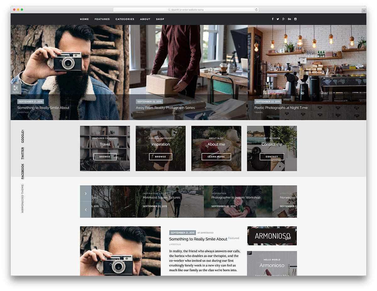 Armonioso-creative-wordpress-blogging-template