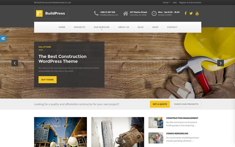 46 Best Construction Company WordPress Themes 2018   colorlib 46 Professional   Responsive Construction Company WordPress Themes For Your  Business 2018