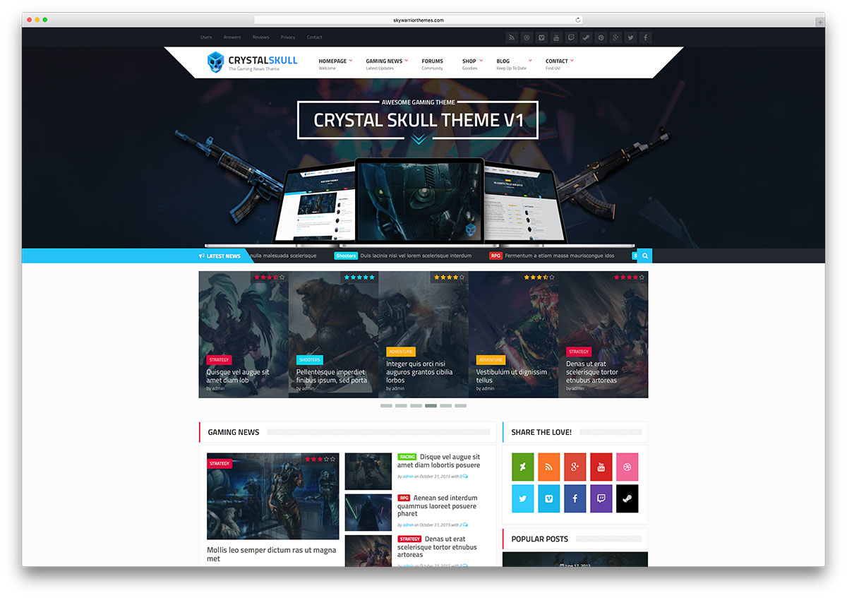 crystalskull-classic-gaming-wordpress-theme