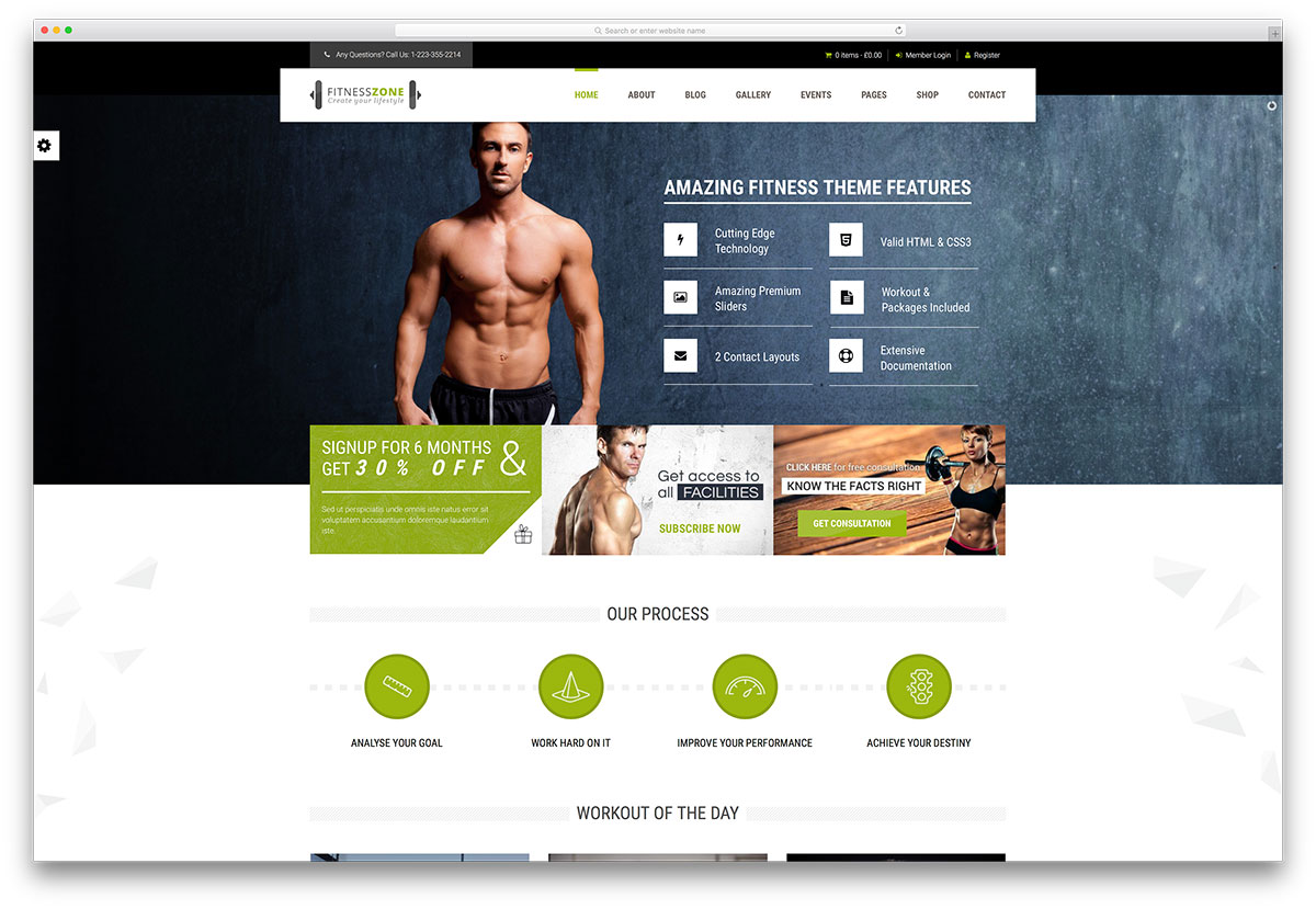 20 best wordpress fitness themes 2016 for gym and fitness centers