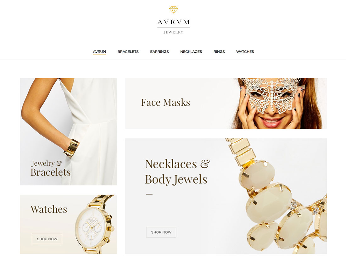 blog home simple jewelry wordpress themes for fashion and ecommerce