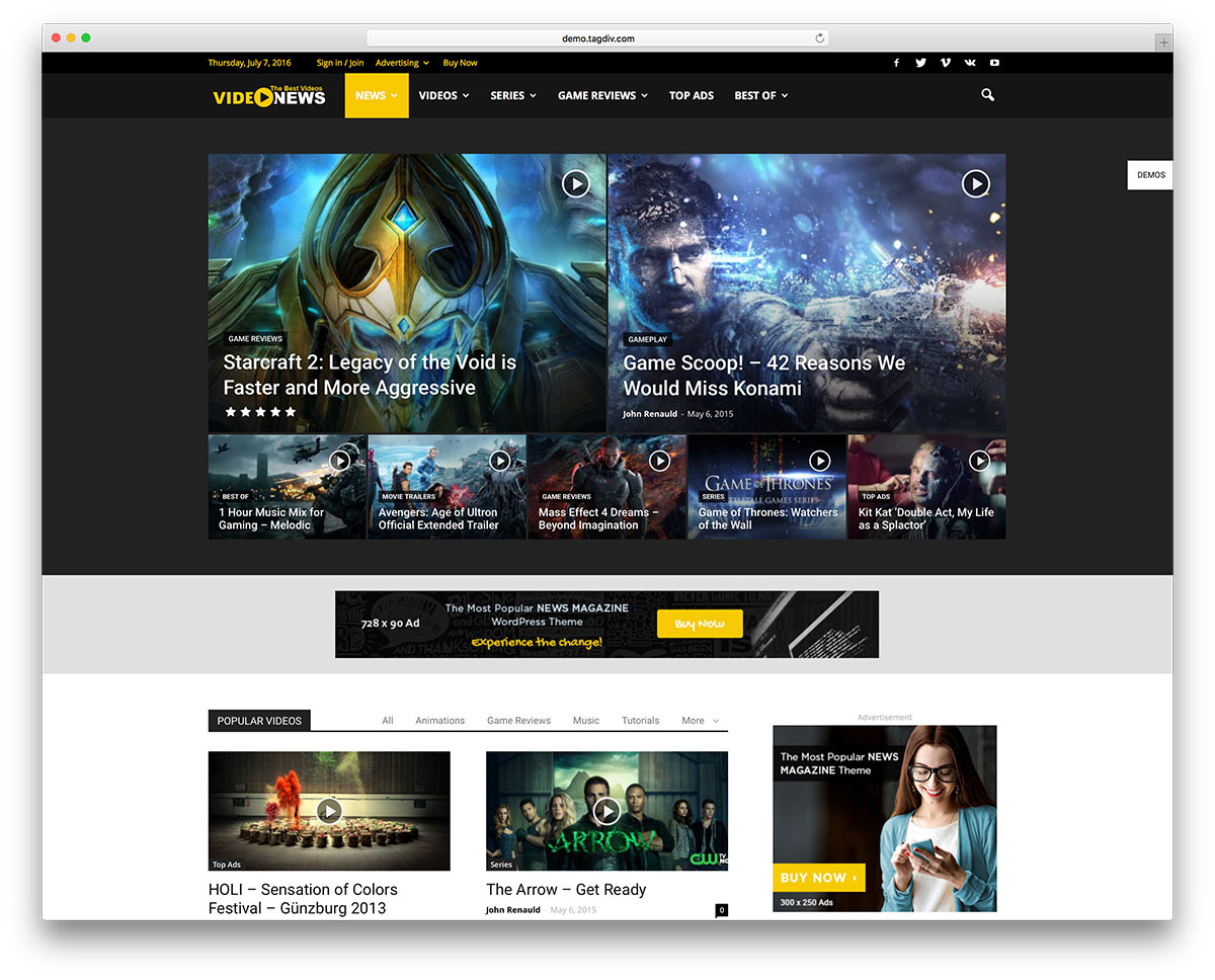 newspaper-video-magazine-wordpress-website-template