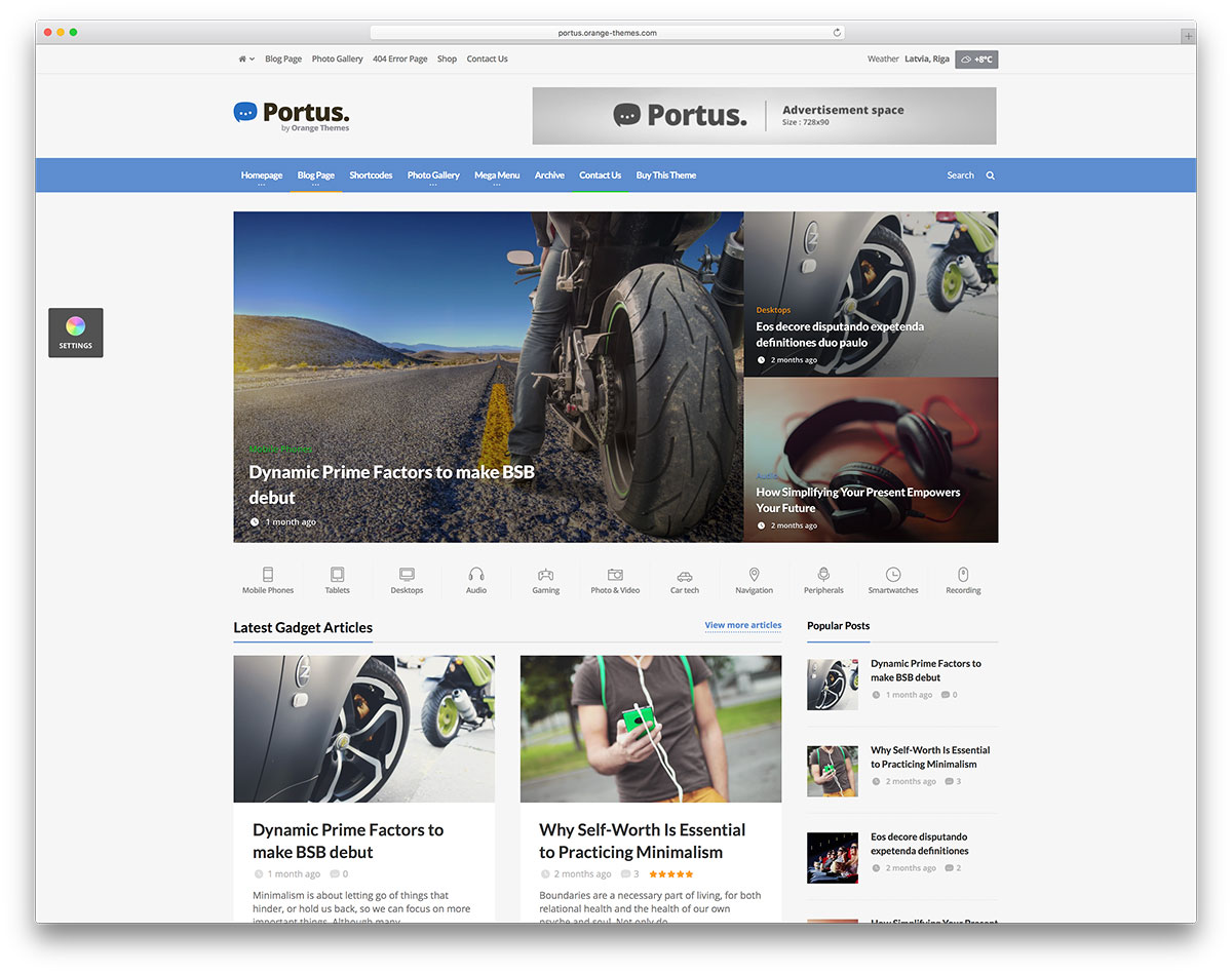 Portus-simple-wordpress-news-website-template