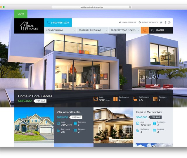 33 Best Real Estate WordPress Themes For Agencies Realtors And Directories 2018 Colorlib