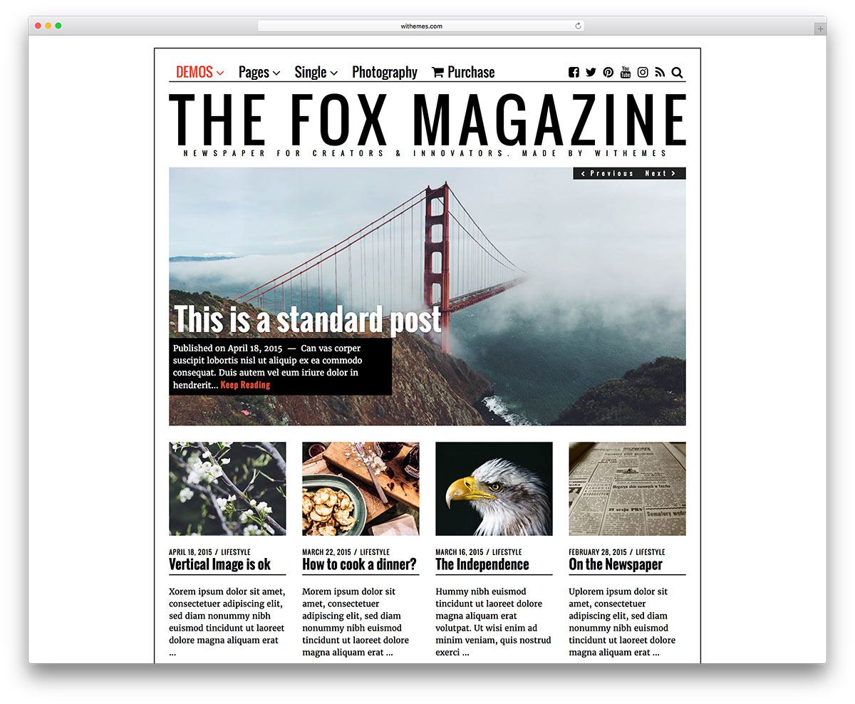 The-fox-minimal-magazine-wordpress-tema