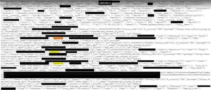 UFO VPN data exposure