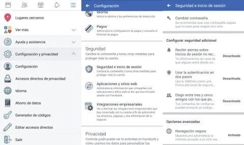 Autenticación en dos pasos de Facebook