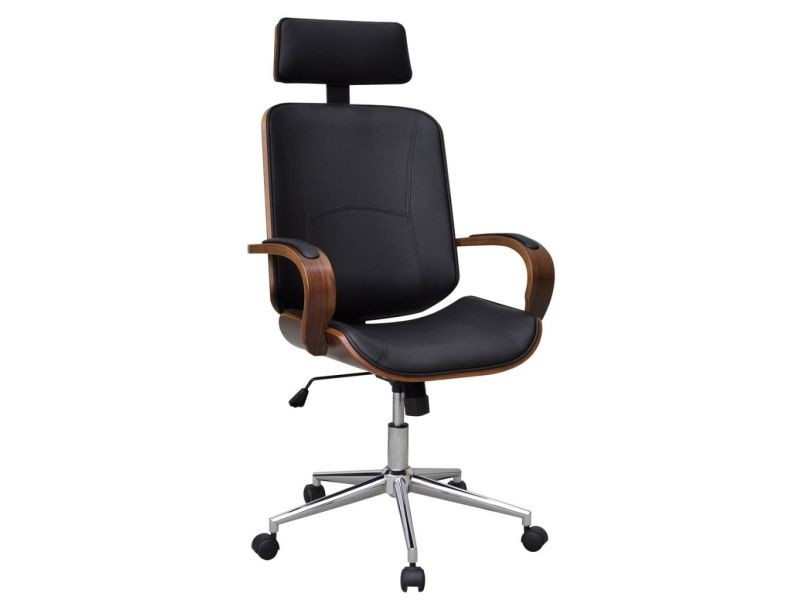sublime meubles de bureau categorie sucre chaise de bureau rotative en bois cintre avec repose tete et faux cuir