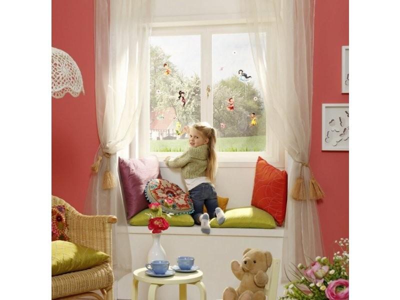 18 stickers pour vitre fee clochette disney fairies