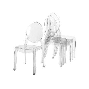 4 chaises transparent en plexi tolga
