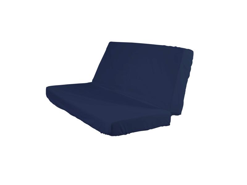 Drap Housse Bleu Marine Pour Matelas Clic Clac Bonnet 20 Cm 130x190 Vente De Terre De Nuit Conforama