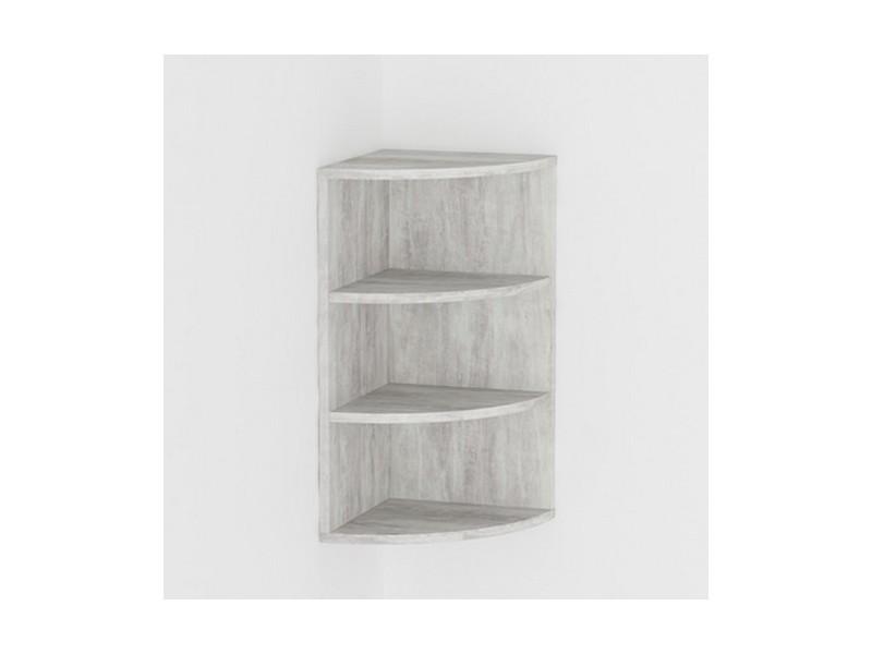 etagere d angle aspect beton marbre blanc