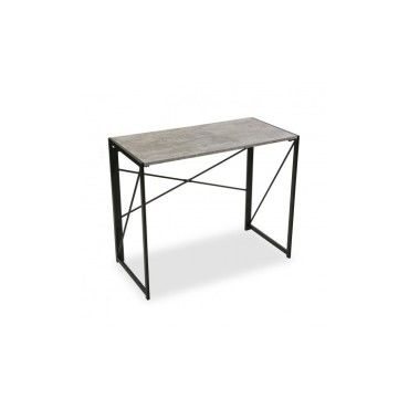 Table De Bureau Pliable Bois Et Metal Buro Vente De Versa Conforama