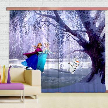 rideaux elsa anna la reine des neiges