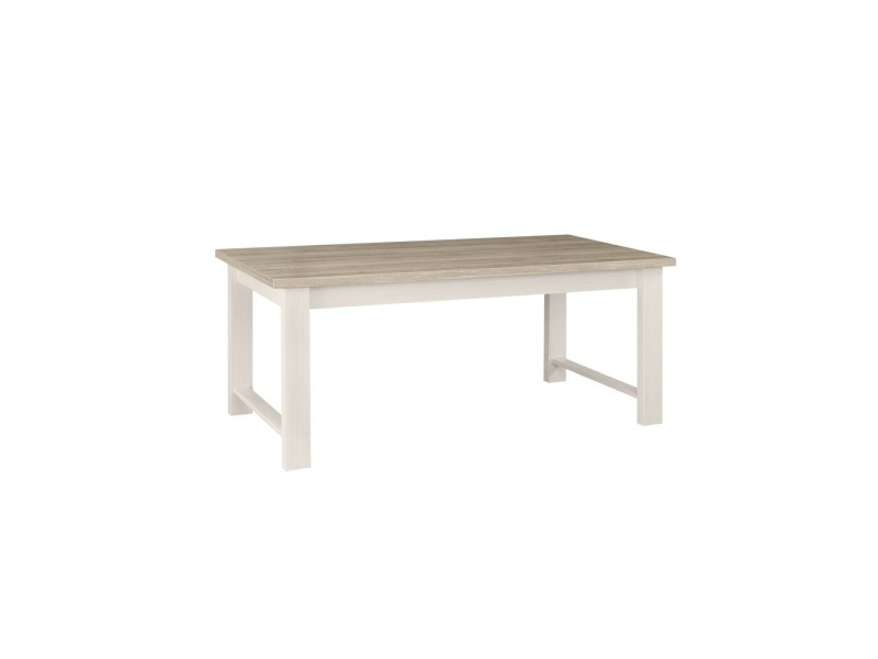 Table A Manger Rectangulaire Blanche Toscane Avec Rallonge Fabrication Francaise Vente De Calicosy Conforama