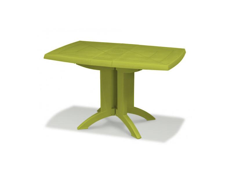 grosfillex tables de jardin vega 118 cm vert cactus