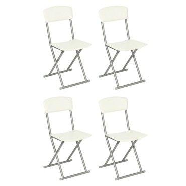 lot de 4 chaises pliantes plastique