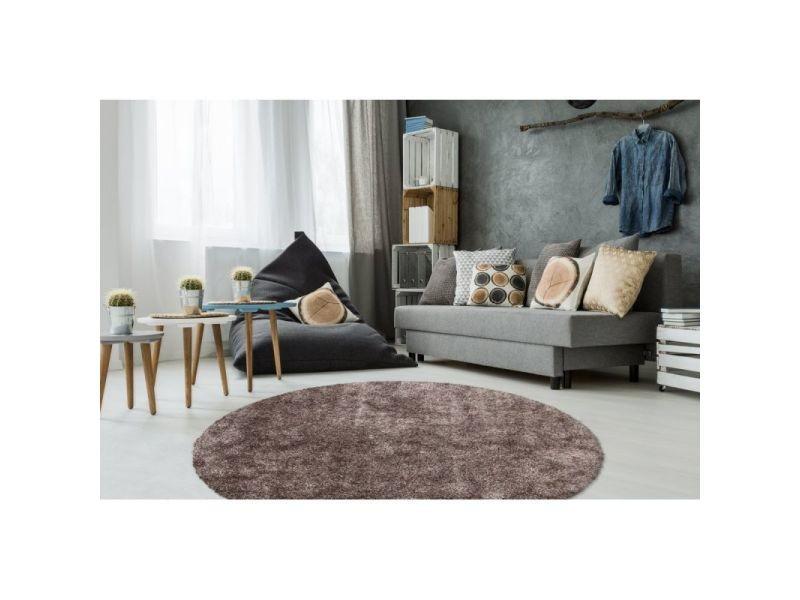 https www conforama fr decoration textile tapis tapis salon et chambre paris prix tapis shaggy rond fait main 22diamond 22 taupe 120 cm p t85506916