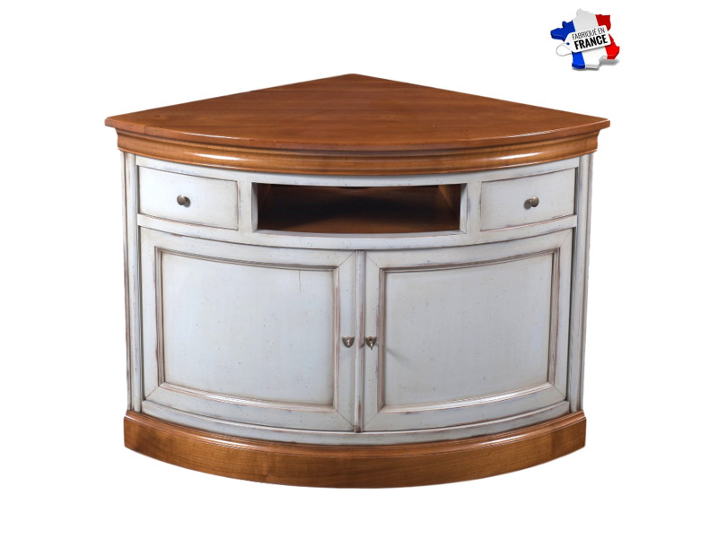meuble tv d angle ou encoignure bi ton