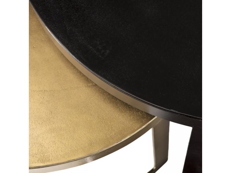 set de 2 tables gigognes ceinturees