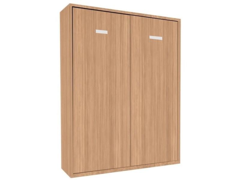 armoire lit escamotable smart kart chene couchage 160 200cm