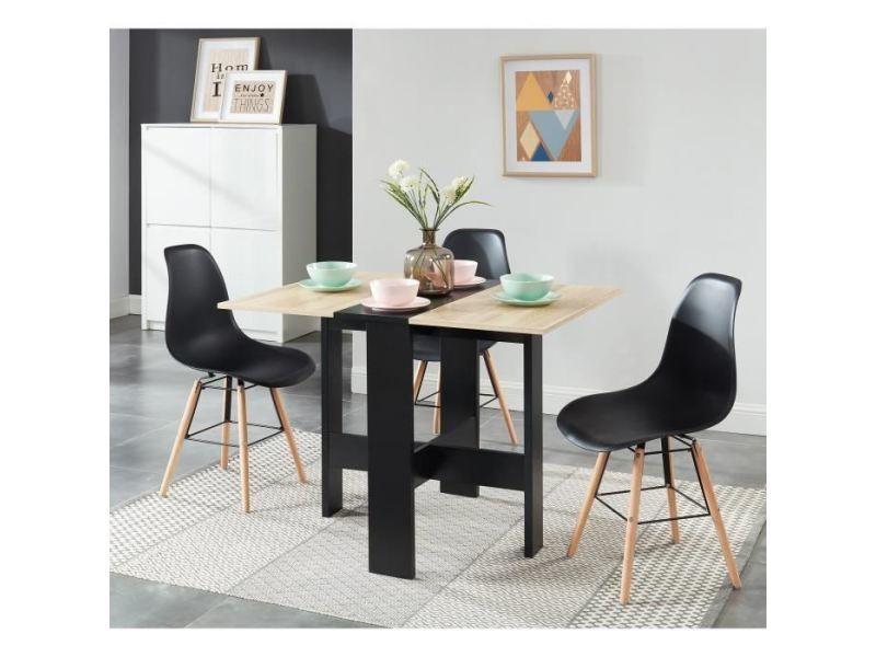salons table pliante noire