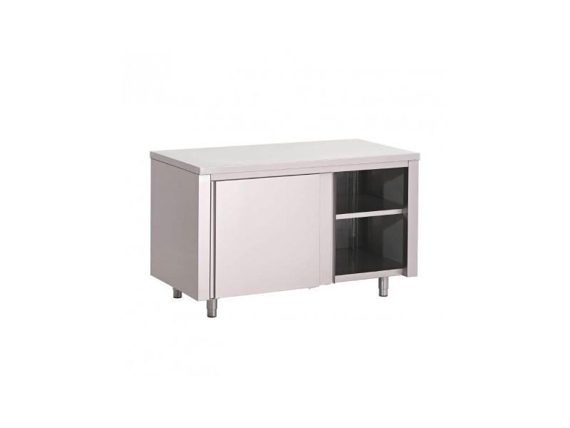 meuble bas cuisine inox porte coulissante gamme 700 gastro m 1200x700 coulissante
