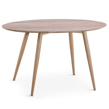 table ovale scandinave sissi chene