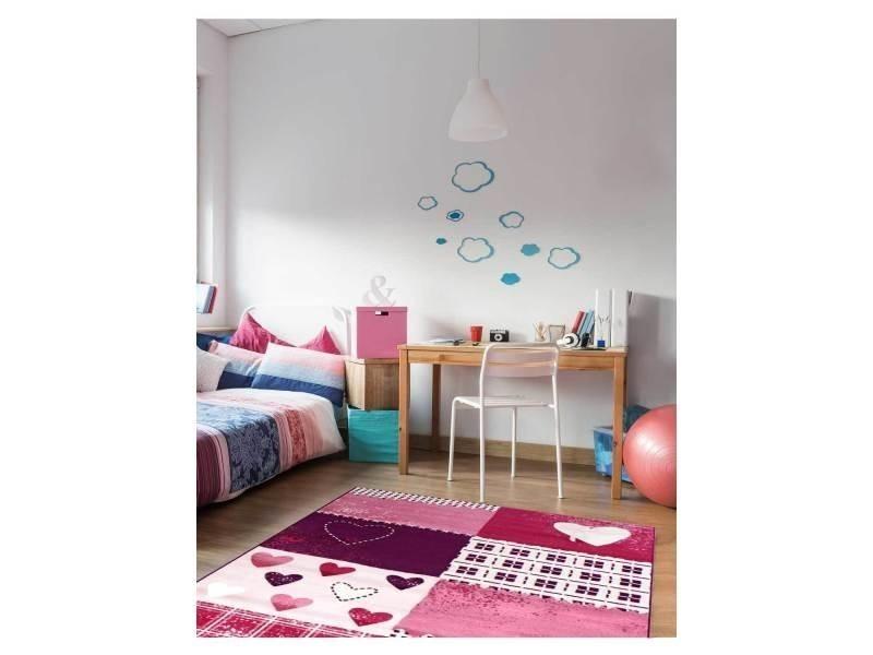 tapis chambre bambino coeur violet 80 x 150 cm tapis pour enfants chambre par dezenco