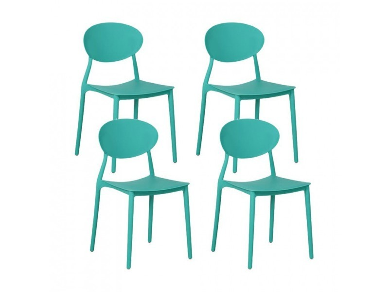 mega lot de 4 chaises empilables en pp