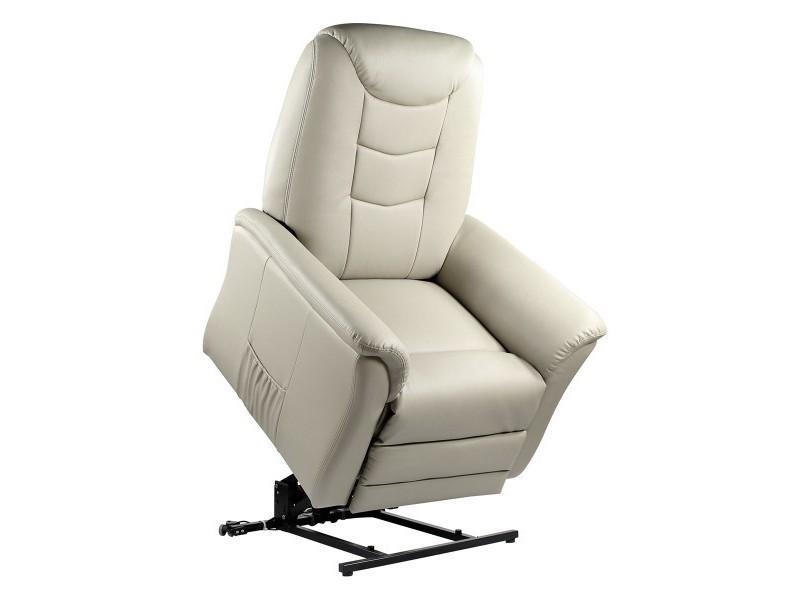 fauteuil relax beige