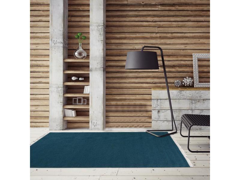 tapis pour couloir baya ibay bleu 80 x 150 cm tapis de salon moderne design par unamourdetapis