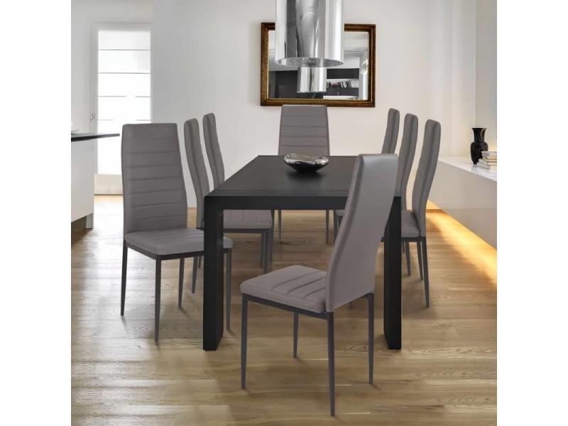 lot de 6 chaises romane grises pour salle a manger