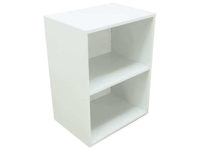Cube 2 Niches Blanc 54x40x29cm Vente De Mini Commode Conforama