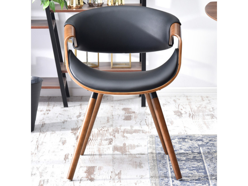 chaise design noyer