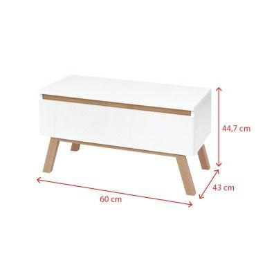 meuble tv thorita 60 cm blanc mat pieds en bois de hetre un tiroir pratique selsey france z61556060
