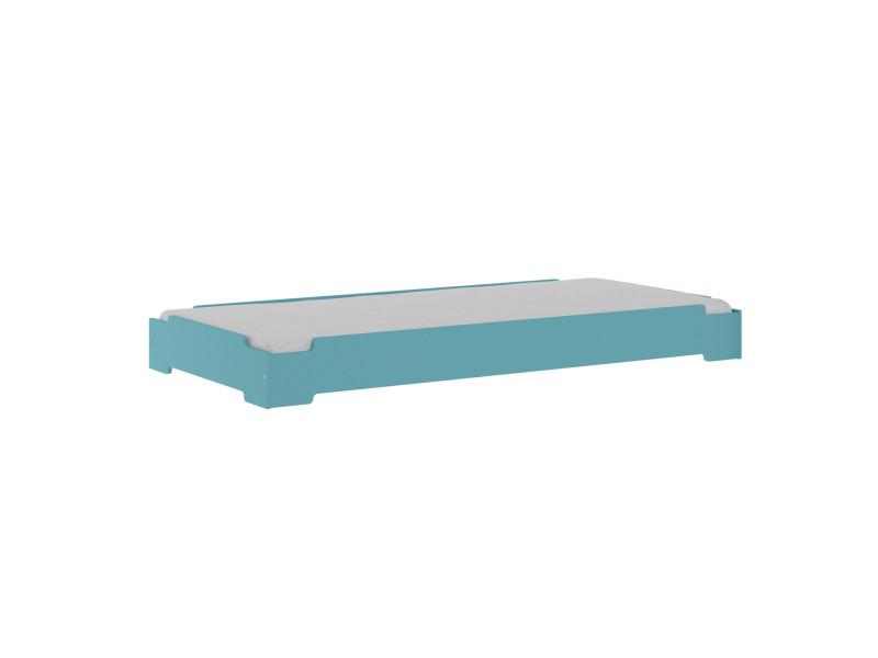 Lit Empilable Stack Bleu 90x190 Cm Vente De Akiten Retail Conforama