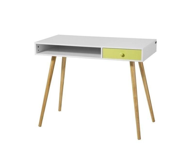 Bureau Console Ordinateur Table D Appoint Secretaire Informatique 1 Tiroir Fwt24 W Sobuy Vente De Bureau Conforama