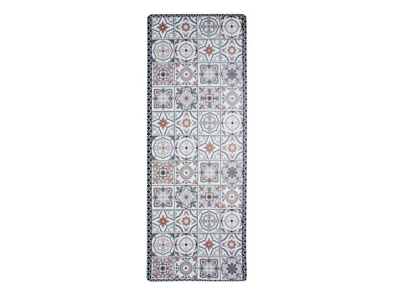azulejos vinyle tapis de cuisine carreaux ciment terra cotta 45x120