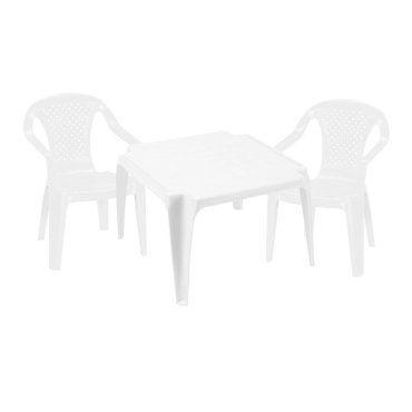 salon de jardin enfant blanc table 2