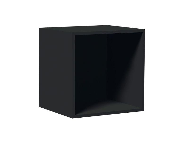 Cube De Rangement Empilable 35 5 X 35 5 Cm Noir Vente De Toilinux Conforama