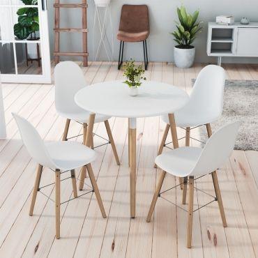 ensemble table ronde rimma 4 chaises