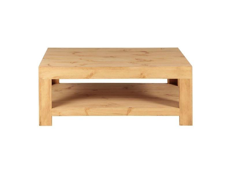table basse pin massif 120 cm bois clair miel bois clair miel