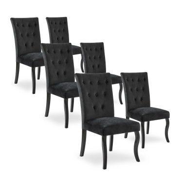 lot de 6 chaises capitonnees chaza