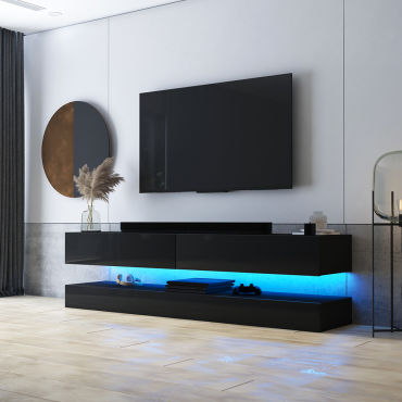 meuble tv suspendu hylia 140 cm