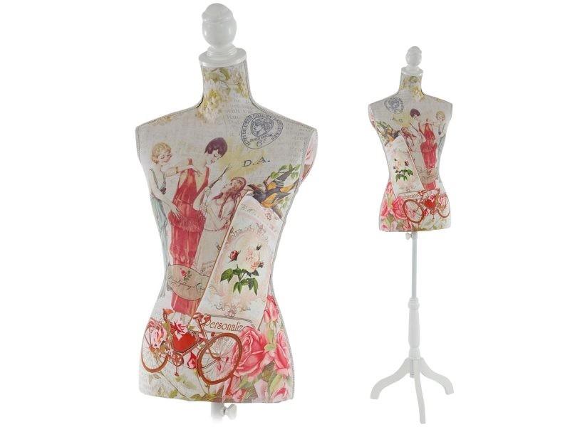 mannequin de couture de tailleur buste torse feminin t222 fibre de verre motif femmes