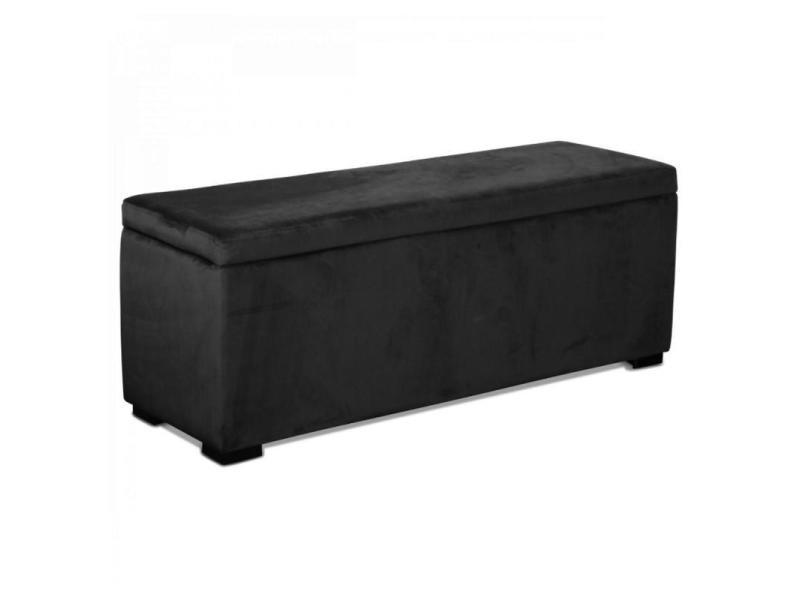 pouf coffre noir