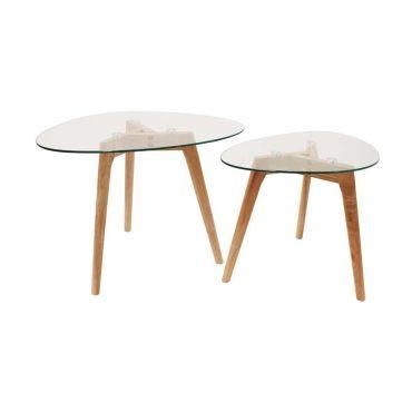 tables gigognes galets plateaux en