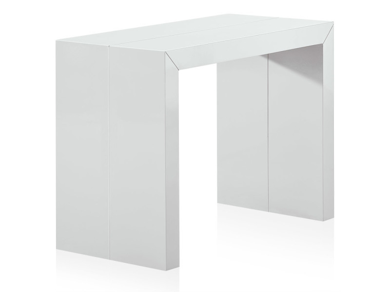 table console extensible nassau l laquee blanc