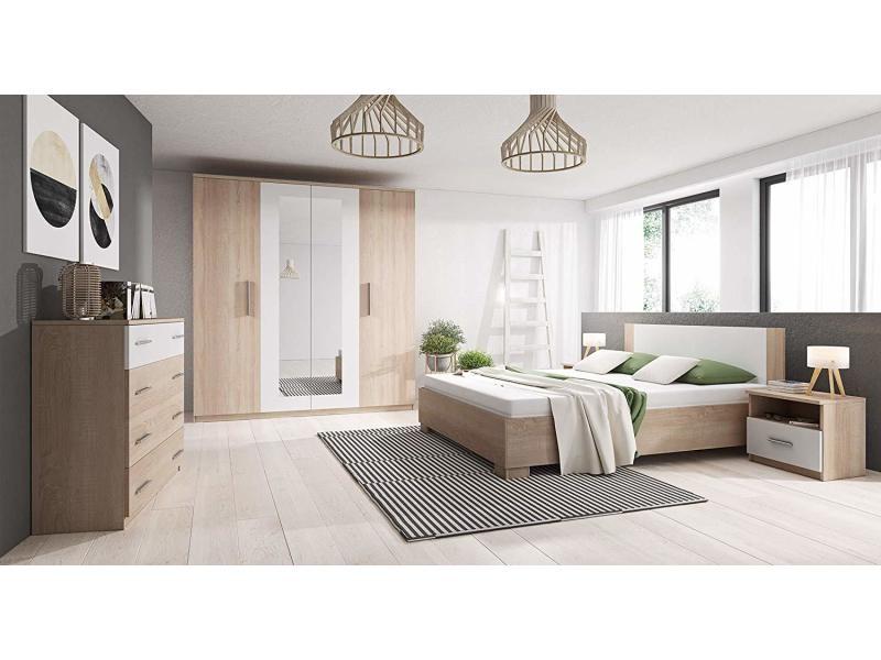 chambre a coucher complete marco avec lit 160x200 commode et 2 chevets